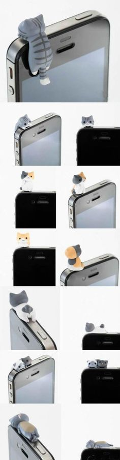 Ear Plug For iPhone OMG! iCat for iPhone And they're anatomically correct. iCat for iPhone And they're anatomically correct. Geek Gadgets, Cool Gadgets, Crazy Cat Lady, Crazy Cats, Bad Cats, Cute Iphone Accessories, Cat Accessories, Accessories Online, Accessoires Iphone