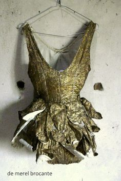 antique gold lame circus costume