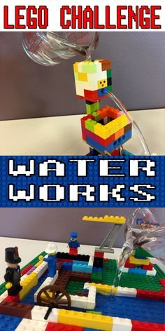 lego challenges for kids: Lego Challenge–Water Works – The Lego Librarian - PinsTrends Lego Club, Lego Design, Legos, Lego Lego, Lego Batman, Lego Maze, Lego Autos, Amusement Enfants, Lego Hacks