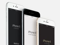 Perspective iPhone 6 mockups