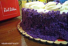Red Ribbon Ube Cake.
