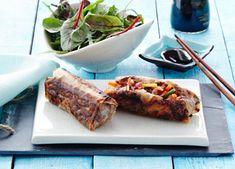 Risruller med oksekød Beef, Journal, Food, Pineapple, Asia, Meat, Essen, Meals, Yemek