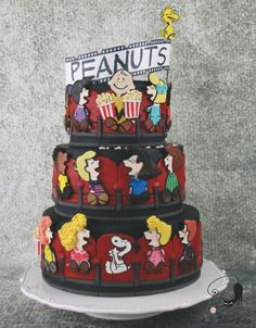 Charlie Brown goes to the Movies - Cake Con Collaboration - Cake by Delicut Cakes
