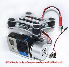RTF Gopro Hero 3 CNC Metal Camera Gimbal Mount for DJI Phantom X525 F450 F550 S