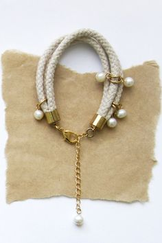 Clustered Pearl and Rope Bracelets