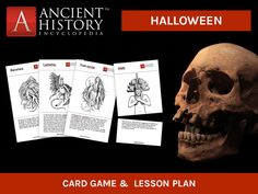Here is a free little game to introduce Halloween into your social studies class without going off-topic! Instructions and a lesson plan included.  This matching card game will allow your students to discover some of the most fearsome creatures, gods and goddesses from ancient times!  Happy Halloween!