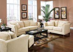 Elegant Space Saving Living Room Furniture Designs: Stunning Small Space Saving Living Room Furniture Wooden Floor Decorating Ideas With Sofa Arm Chair Coffee Table Paintings Picture Frame End Table Rug House Plant And Window ~ newrandy.com Interior Designs Inspiration