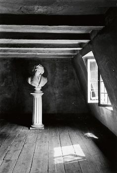 """foreverblog-world: """" The bust of Beethoven in the room where he was born. Bonn, Germany, 1934 """""""