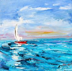 Title: Come Sail Away - Original oil painting by Karen Tarlton