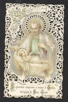 Exquisite Antique Spanish Holy Card of Saint by Divinegiftshop