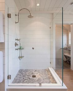 Some amazing mid week sales picks up on http://Beckiowens.com.  Loving the shiplap in this bathroom, they mimicked the shiplap pattern with quartz in the shower -- pretty amazing.  Image via /homebunch/