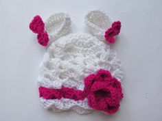 Crochet Baby Hat and Booties Baby Girl Beanie and by paintcrochet