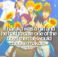 WAIT IDK WHAT IF HE CHOOSES RIN CAUSE' HES LIKE A BAD BOY BUT MAKOTO IS SUCH A SWEETIE PLUS HE'S MINE .......   IDK