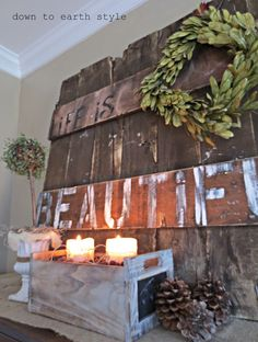 Rustic Wall Art made from recycled side of a crate... <3