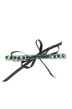 FWRD 复古水晶短项链 – 复古绿 & 黑色
