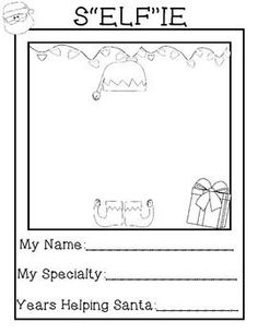 Our class had a blast with this activity!  Enjoy with my compliments.I always appreciate your words of encouragement and your sweet feedback.  Thank you.Let your students Elf themselves with this fun freebie!  Draw yourself inside the elf hat and shoes, create an elf name for yourself, and supply all the pertinent job information.