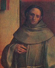 Giorgione, Pala di Castelfranco, 1500 ca. Particolare di San Francesco. Francis Of Assisi, St Francis, Madonna, Mona Lisa, San Francesco, Artwork, Painting, Art, San Francisco