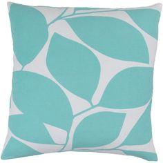 "Wade Logan Ochoa Cotton Throw Pillow Color: Hot Pink / Light Gray, Size: 20"" H x 20"" W x 5"" D"