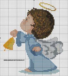 Schemi angeli punto croce - idee a punto croce cross stitch angels, beaded cross stitch Stitch And Angel, Cross Stitch Angels, Cross Stitch For Kids, Beaded Cross Stitch, Cross Stitch Baby, Cross Stitch Charts, Counted Cross Stitch Patterns, Cross Stitch Embroidery, Baby Motiv