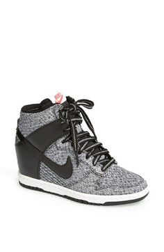 Nike Dunk Sky Hi Wedge Sneaker (Women) available at #Nordstrom http://moncler-online-shop.blogspot.com/ nike shoes,nike fashion style
