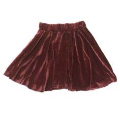 Mauve Velvet Skater Skirt · Radtrash ·