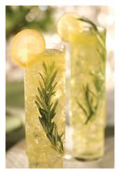 Rosemary infused tea-with-lemonade ... mmmmm. I'm kind of imagining it with a shot of gin, or maybe limoncello?