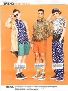 Boys do prints in the latest issue of Attitude Magazine - #Leopard parka jacket and bomber jacket by @YMC London