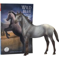 Breyer Classic Wild Blue comes with our Satisfaction Guarantee! Breyer Classic Wild Blue Story of a mustang. Comes with book Appaloosa Horses, Breyer Horses, Horse Age, Blue Mustang, Horse Story, Horse Books, Blue Horse, Dark Horse, Thing 1