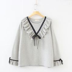 Buy Vateddy Ruffle Trim Long-Sleeve Top at YesStyle.com! Quality products at…