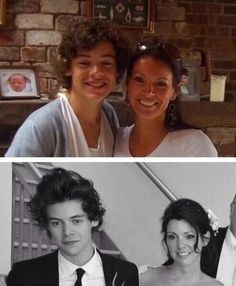 Harry Styles at his mom's wedding, but the height difference ugh