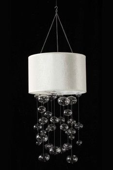 White Shade Bubble Chandelier