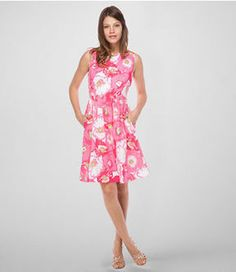 Eryn in Cherry Begonias, a perfect dress to wear while attending weddings or going to brunch (Lilly Pulitzer)