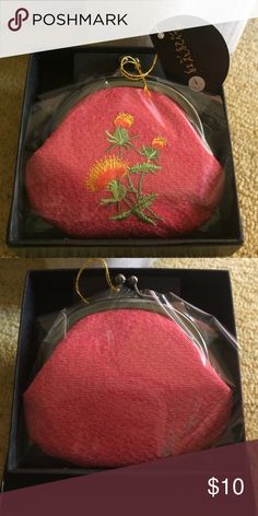 NWT. Embroidered coin purse NWT. Beautifully embroidered coin purse. Still in packaging. Bags Wallets