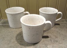 3  JT Stoneware Speckled Tea Cups  Made in by Chitownexpress, $8.99