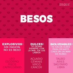 ¡A todos nos encantan los  ¿Sabes cómo besa cada signo? Descúbrelo aquí. #besos