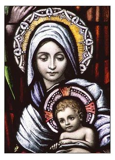 images of Catholic Christmas stained glass windows - Google Search