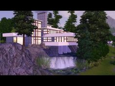 Sims 3 Version of the Falling Water house