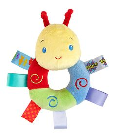 Take a look at this Blue & Red Caterpillar Cozy Rattle Pal by Taggies on #zulily today!