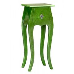 Add a touch of green to your space with this lacquered high gloss bedside cabinet.