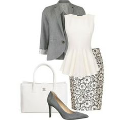 LOVE THOS LOOK! A fashion look from December 2013 featuring shirts & blouses, reversible jacket and lacy skirt. Browse and shop related looks. Business Outfit, Business Fashion, Business Wear, Business Casual, Polyvore Outfits, Polyvore Fashion, Mode Outfits, Casual Outfits, Dress Casual