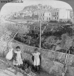 Athens  c. 1897  In the backround the Acropolis