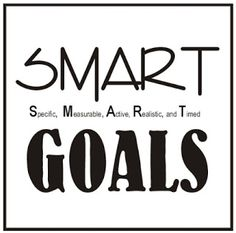 Make your goals SMART so you can know if you've achieved them or not.