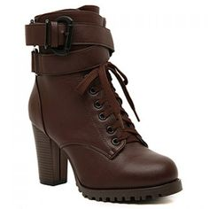Fashion LaceUp and Buckle Design Womens Boots Boot ShopBoots OnlineClothing