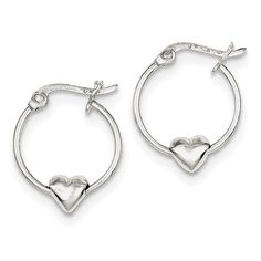 cefb75055 ICE CARATS 925 Sterling Silver Heart Hoop Earrings Ear Hoops Set Love Fine  Jewelry Gift For Women Heart *** Learn more by visiting the image link.