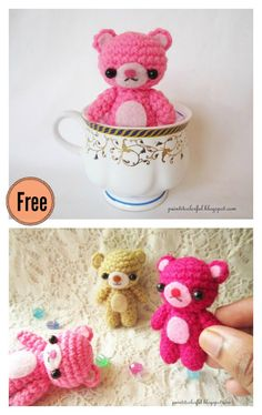 Amigurumi Mini Teddy Bear Free Crochet Pattern