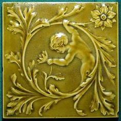 Majolica Tile By Minton Hollins