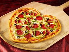 Heart-Shaped Valentine's Day Pizza