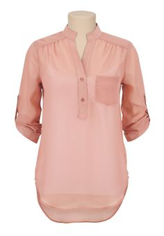 3/4 Sleeve Chiffon Blouse - maurices.com
