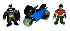 Imaginext Bat Cave Batman, Robin and Motorcycle by Mattel. $16.99. Replacement figures for Imaginext Bat Cave.. Includes Batman, Robin and Motorcycle.. Replacement figures for Imaginext Bat Cave. Includes Batman, Robin and Motorcycle. Parts come from the manufacturer packaged in a plastic bag.