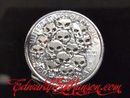 Hobo Quarter Coin with Skulls Artwork !!!